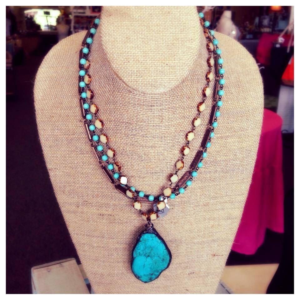 Triple Strand Turquoise short neckalce.jpg