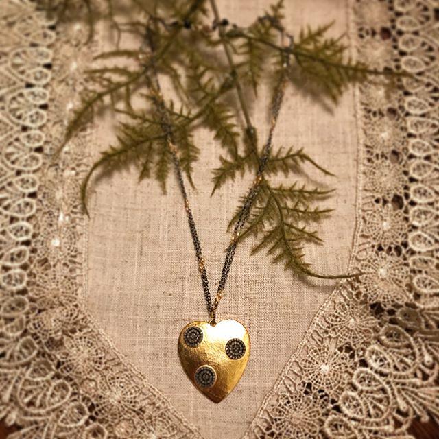My favorite so far! This gold and pave diamond heart is 😍😍😍 💛💎 . #myredbead #pavediamonds #goldheart #heartpendant #diamondjewelry #goldjewelry #mothersday #mothersdaygift #mothersday2018 #jewelrydesigner #jewelryartist #igbloggers #instabloggers #fashionbloggers #stylebloggers #jewelryblogger