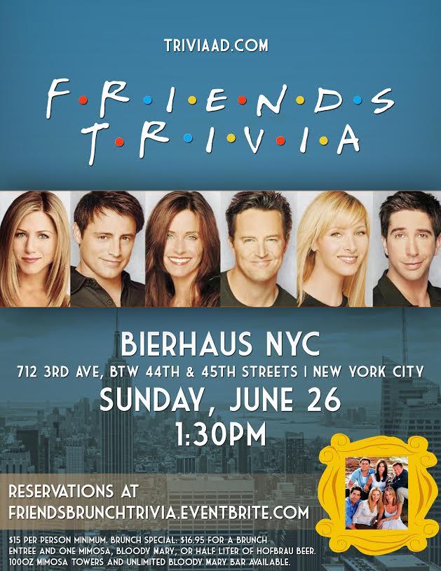 Friends Brunch Trivia — Bierhaus NYC - German Restaurant