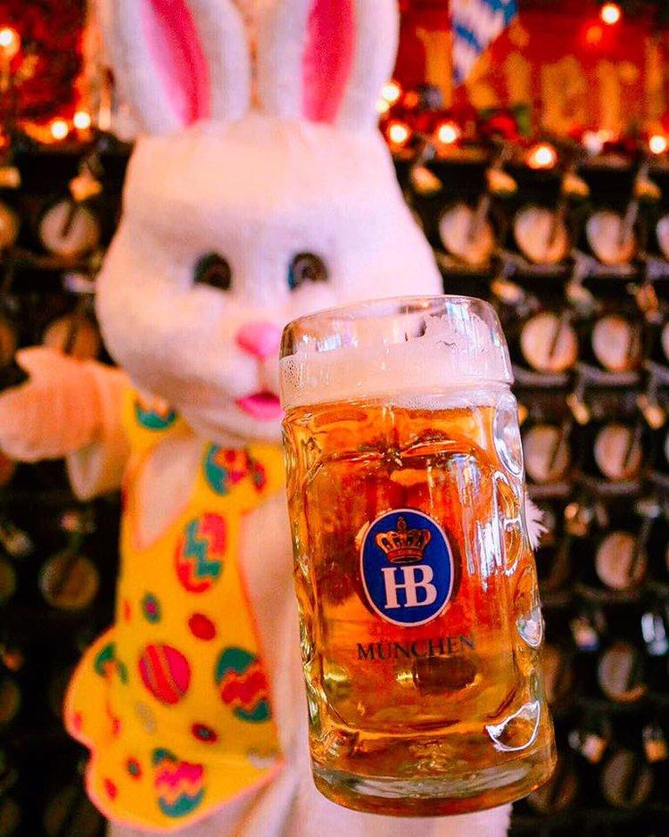 Easter Bunny Brunch Bierhaus Nyc German Restaurant Biergarten