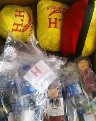 Survival Kit and Hammock donations are being sent all over the world!