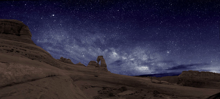 Delicate Arch at Night, Photo by The National Park Service