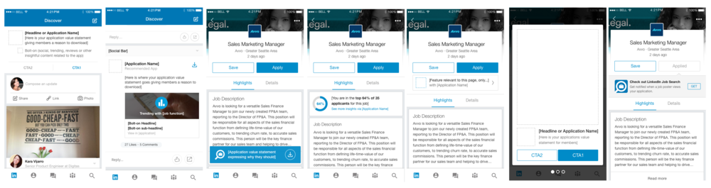 Promotional Framework for LinkedIn apps