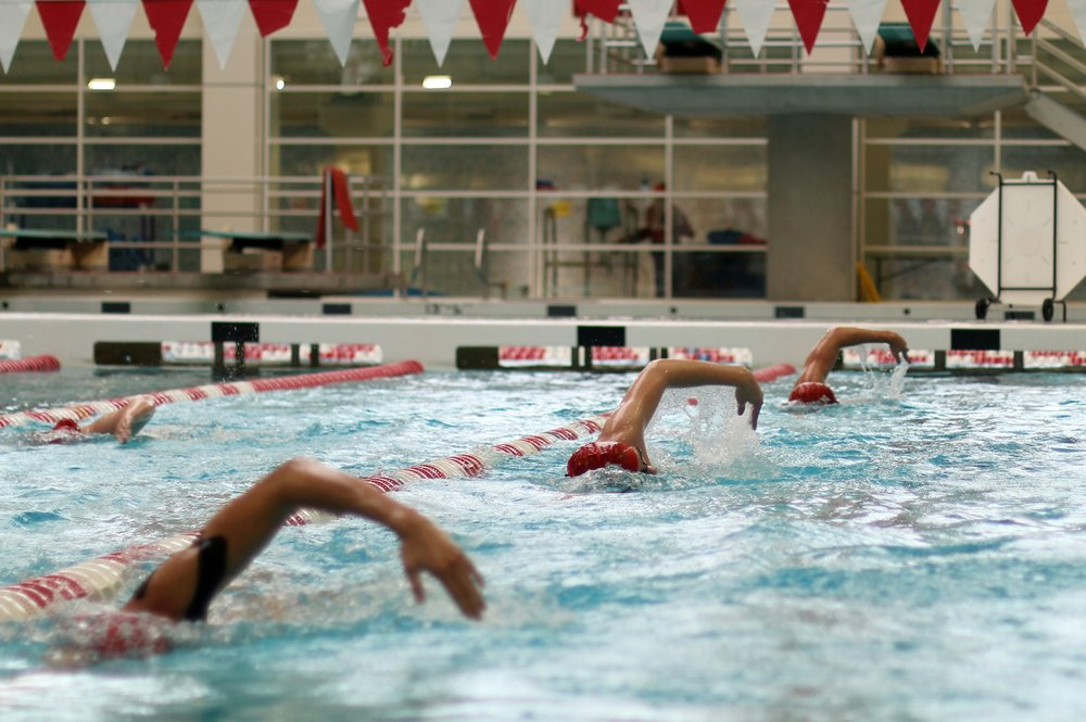 Members of Boston University's Swimming and Diving Team practice on Oct. 21, 2015.