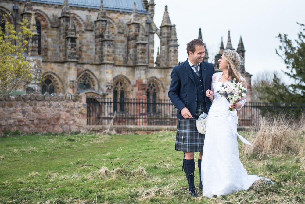 Douglas and Daria - Rosslyn Chapel - 24 April 2016 - ©Photography by Juliebee