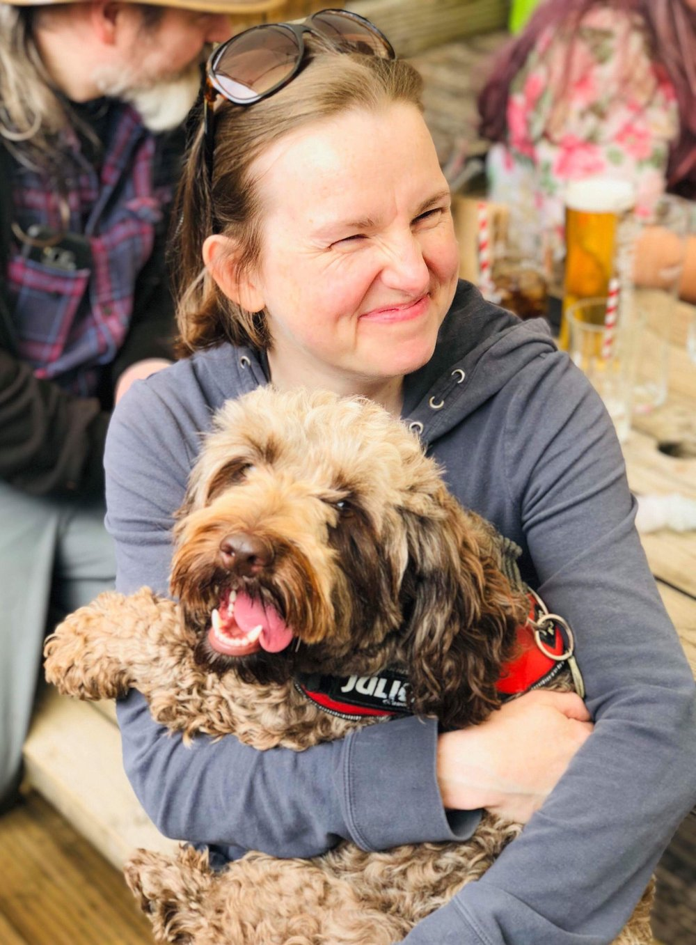 I found my calling in life when I photographed Joffrey's birthday party and he rewarded me with cuddles. Please don't tell Roxy. This picture was taken by his Mum, Briony Cullin.