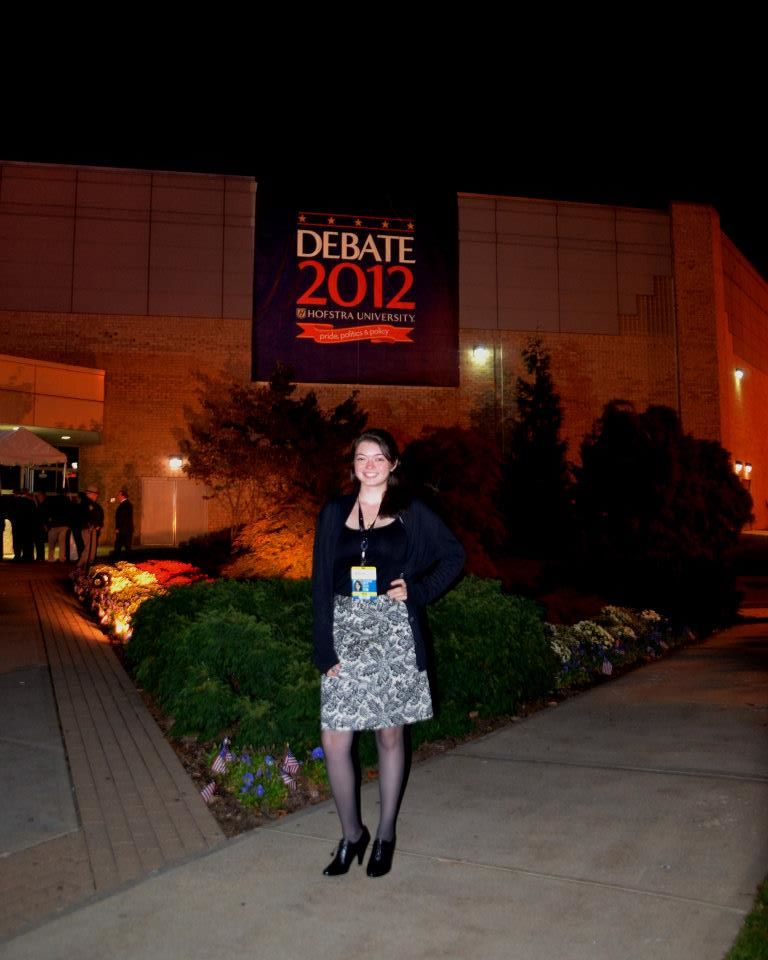 Covering the 2012 Presidential Debate at Hofstra University for Long Islander News.