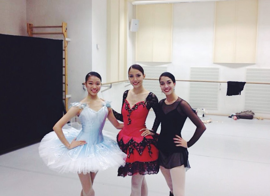 Fellow dancers at Leipziger Ballet