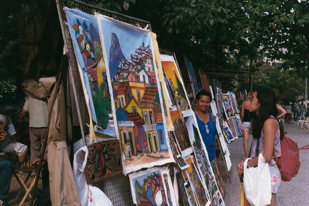 An art market in Ipanema