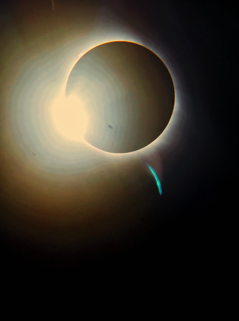 The solar eclipse taken from a huge telescope in our backyard.