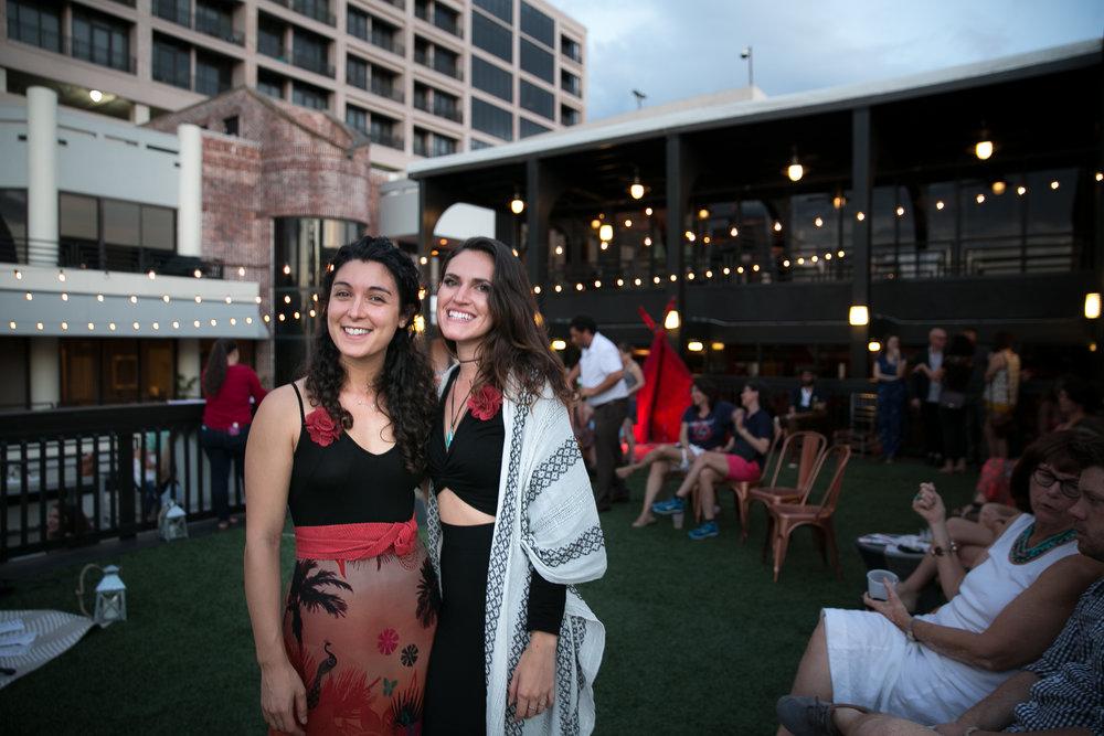 Event hosts Amelia Bartlett and Alicia Geigel