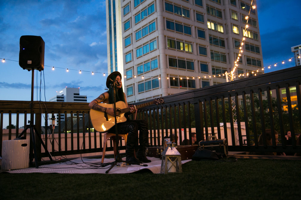 Local musician Geri X playing a stellar stripped acoustic set.
