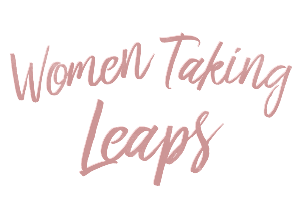 Logo for the Women Taking Leaps series.