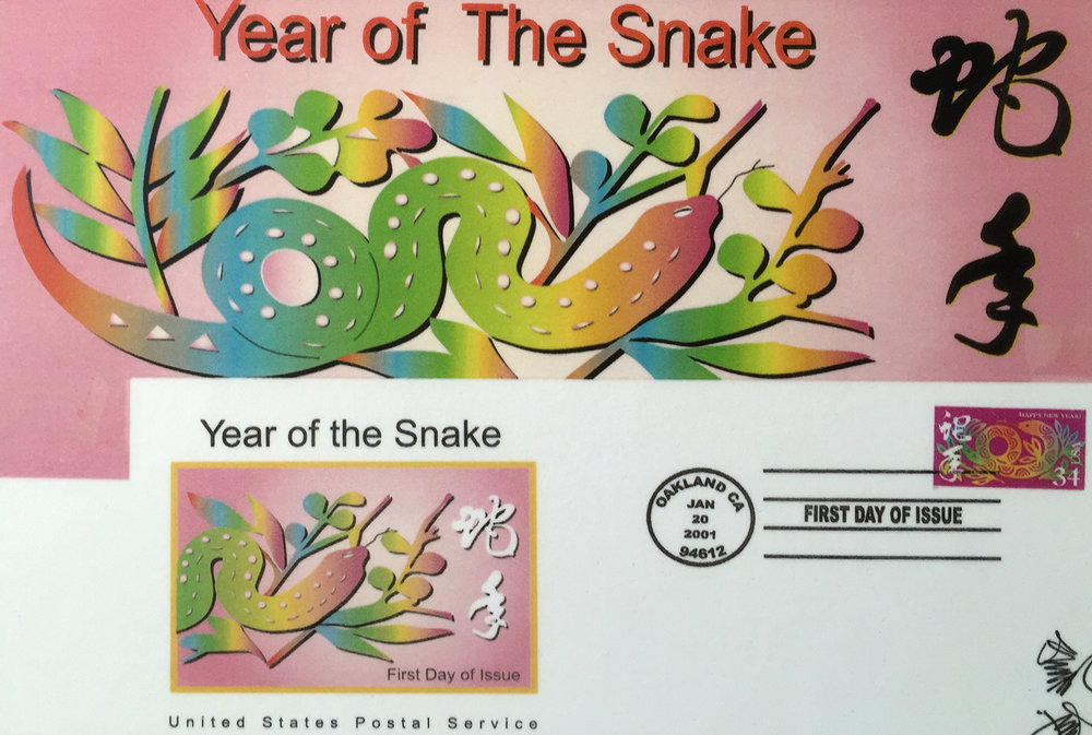 "He designed the ""Snake"" character for the US Postal Service."