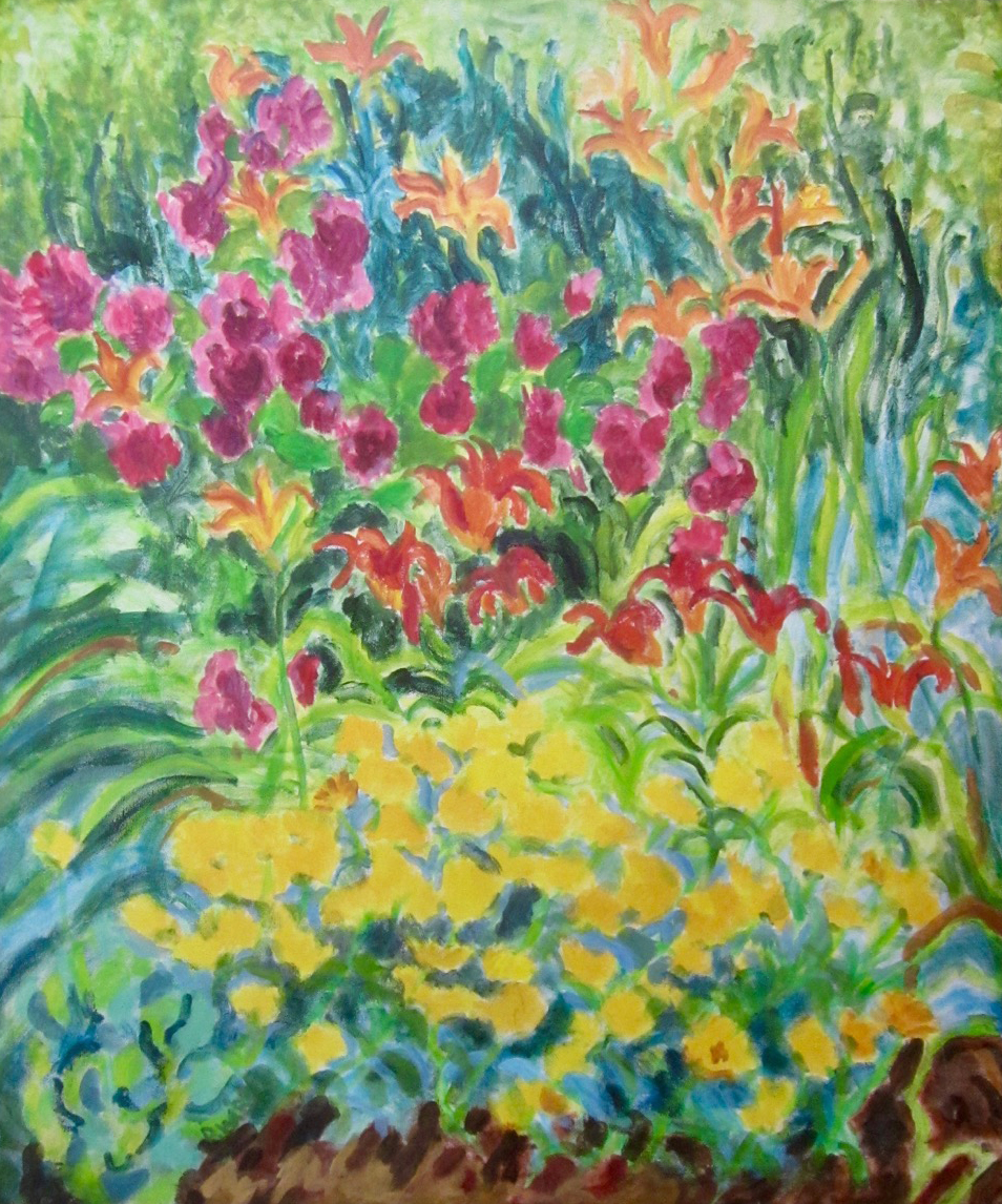 Dottie Weintraub    My Garden    acrylic on canvas