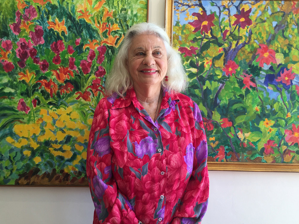 And glorious Dottie Weintraub among her gardens
