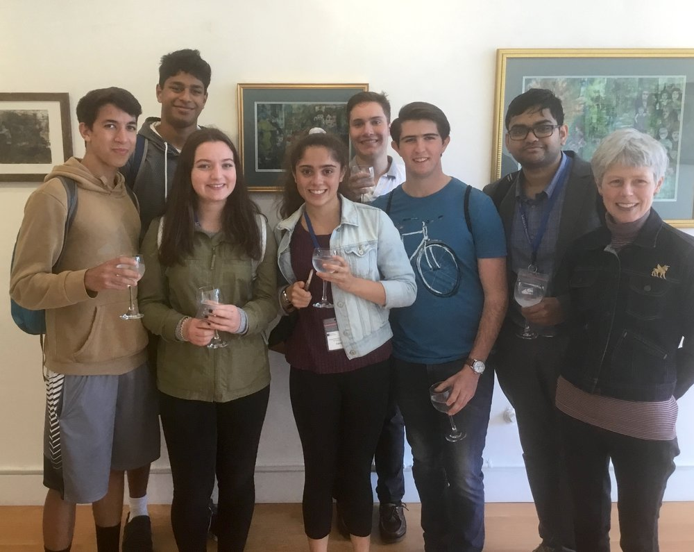 the students, who are in a summer program at Lehigh University, and our Anne