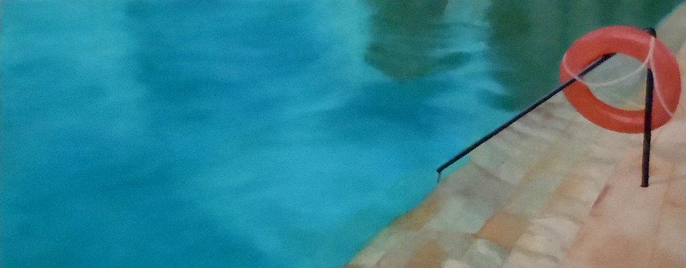 Bekal Pool  oil on wood panel 12x12in 2018
