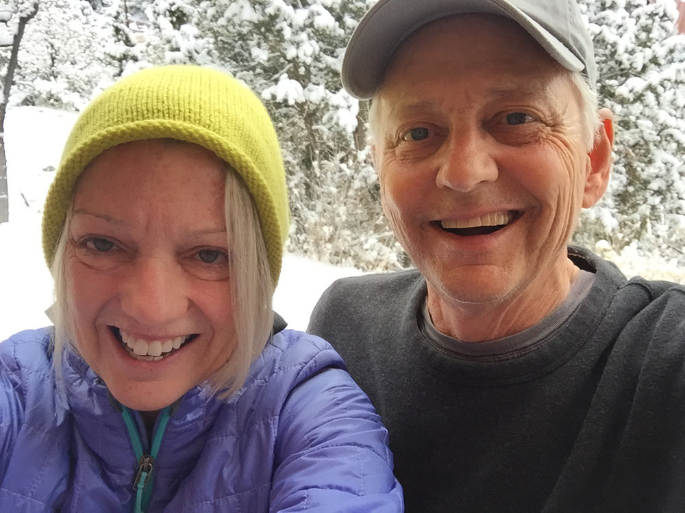 Linda and Tom in New Mexico last winter