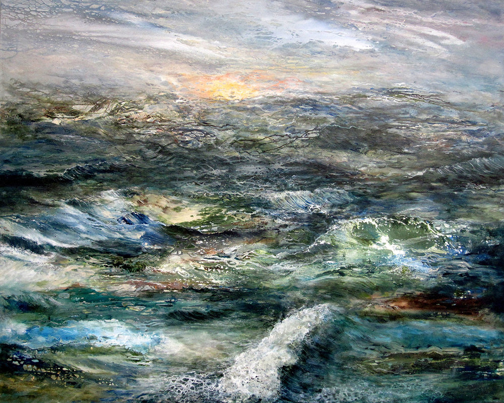"Tides  48"" x 60"" acrylic on canvas 2019"