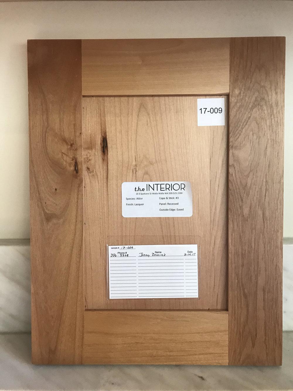 Lacquer Alder - Wood Design