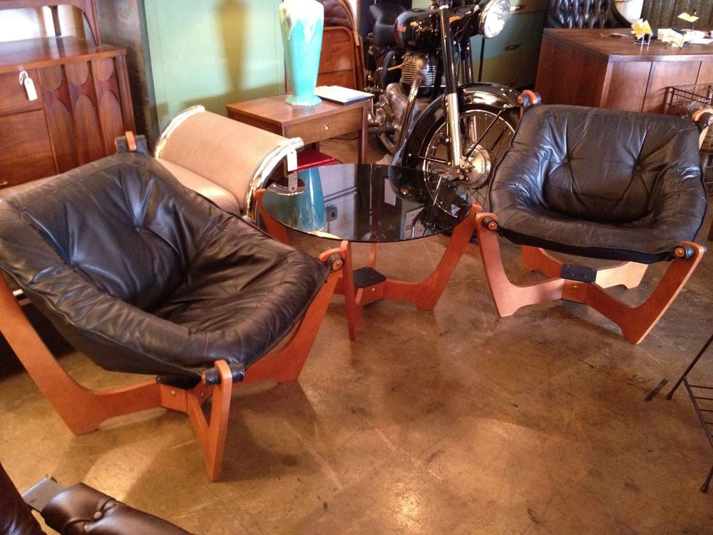 Leather Luna Chairs