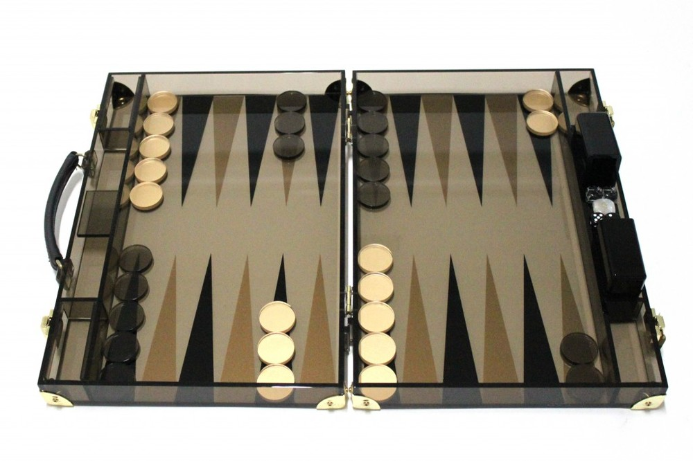 Acrylic Backgammon Set, Alexandra von Furstenburg