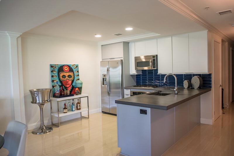 After: Modern Kitchen with Bold Artwork
