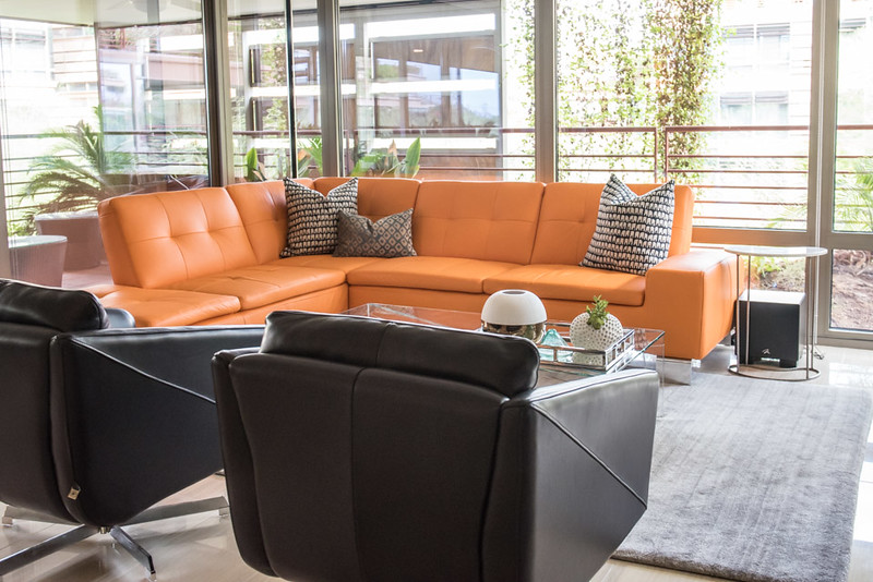Modern Miami-inspired Living Area, Scottsdale Optima Camelview
