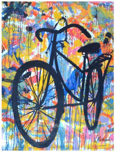 Bike en Negro Sobre Gestos,  here