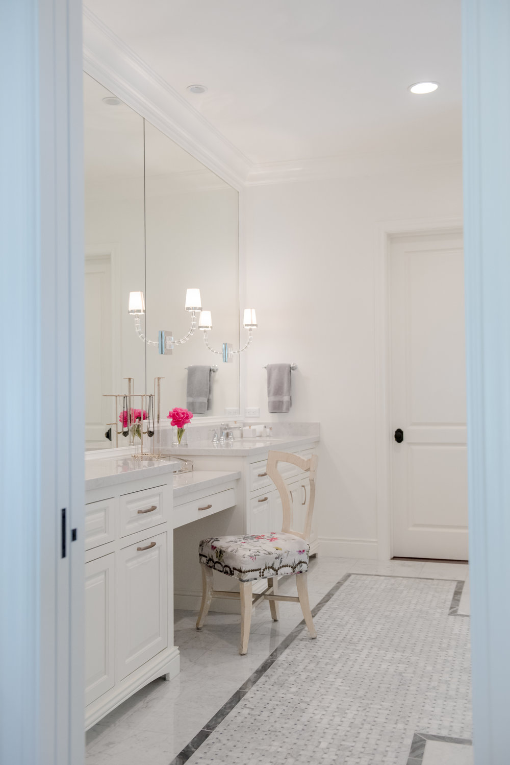 72+Master+Bath+Carrara+Marble+Vanity+Floral+White+Gray+Mirrors+Luxe+Scottsdale.jpg