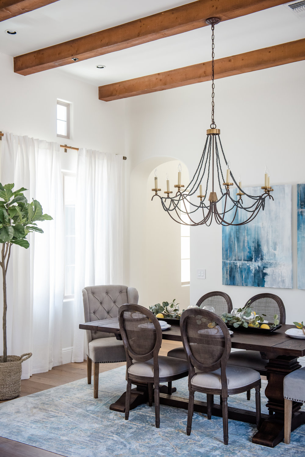 13+Art+Blue+Chandelier+Tree+BohoAccents+DarkWoodTable.jpg
