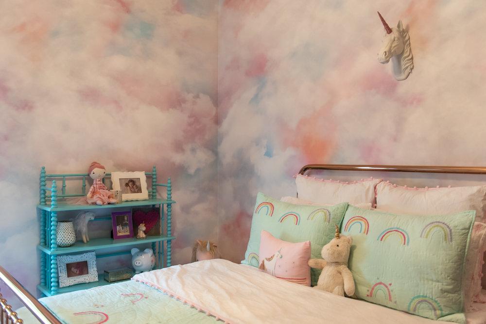 girls bedroom +rosegold +bedframe +unicorn +kidsbedding.jpg