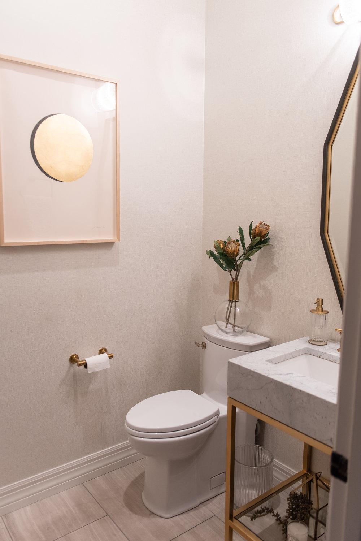 powder-bath +brass +Carrara-marble +vanity +wallpaper.jpg