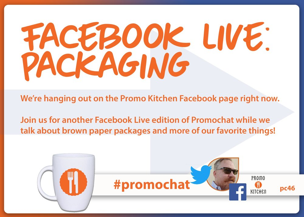 Be sure to join in  #promochat  every Wednesday at 3PM ET/NOON PT as PromoKitchen hosts a new topic.  Share your knowledge and get to know other professionals within the promotional products industry.  Below, you'll find the #promochat from 2/14/2018. You can find all of the #promochat transcripts  here .