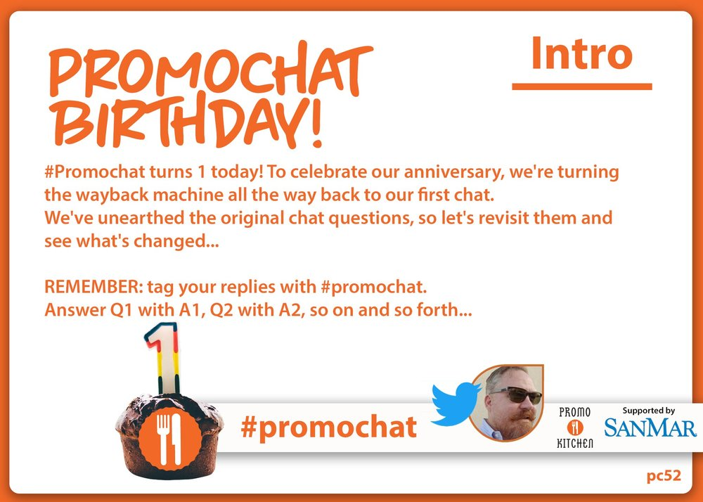 Join  #promochat  and share your knowledge every Wednesday at 3PM ET / NOON PT as PromoKitchen hosts a new topic.  Below you'll find the transcript from the #promochat on 3/28/18. See all of the past #promochat archives  here .