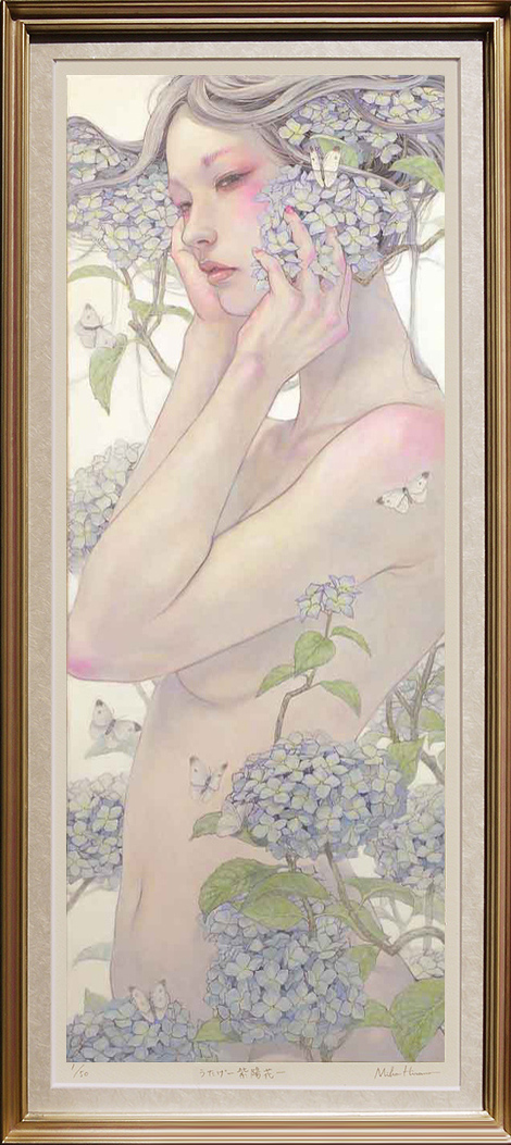 The Feast ~Hydrangea〜 (Frame is included) Frame color: Silver + Purple