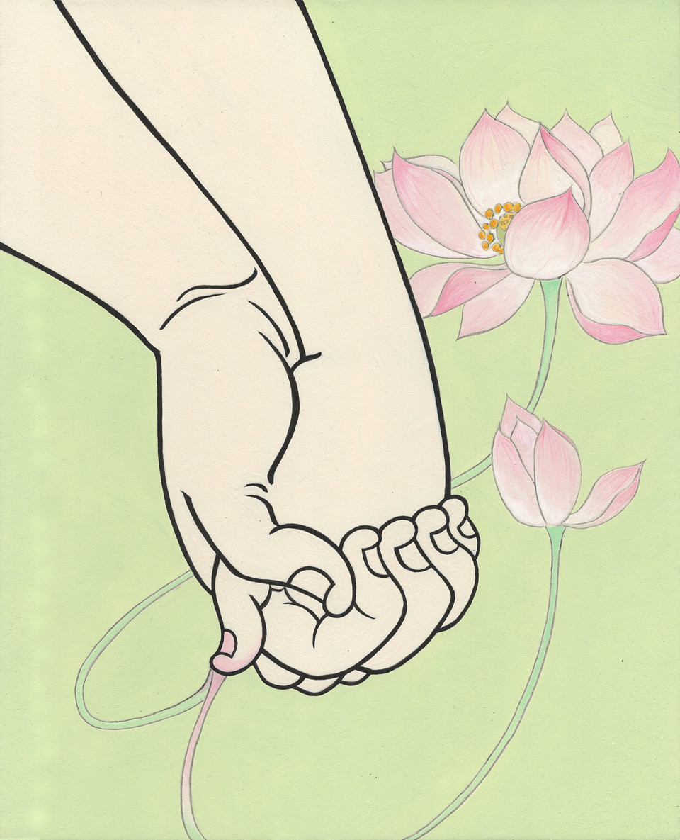 MasakoAsaba_Hands of agreement,27.3x22cm.jpg