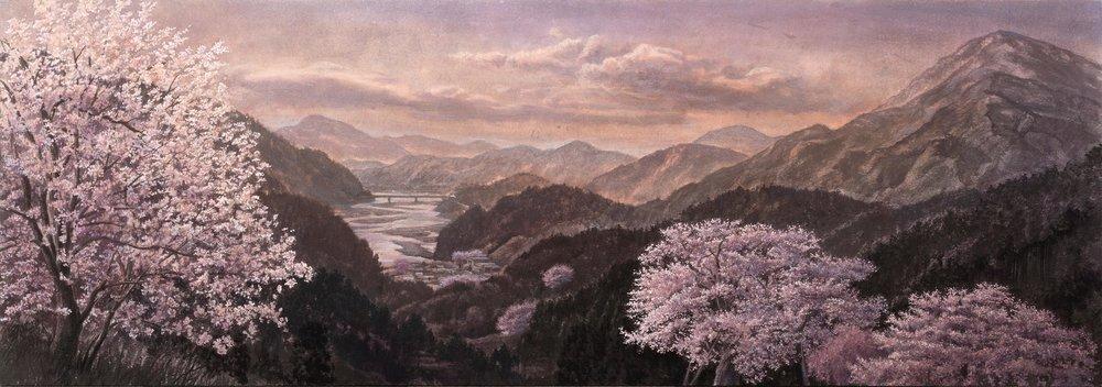 春曉の山河 73x210cm