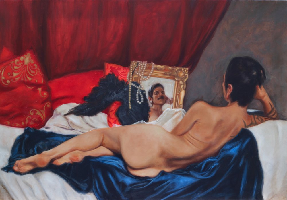 Reflections (on the self), tribute to Velasquez