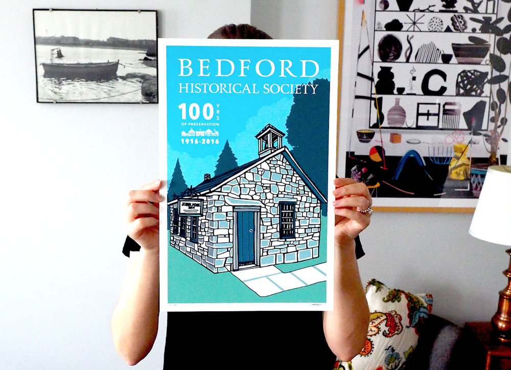 Bedford historical society centenNial poster