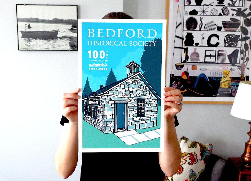 Bedford centennial poster