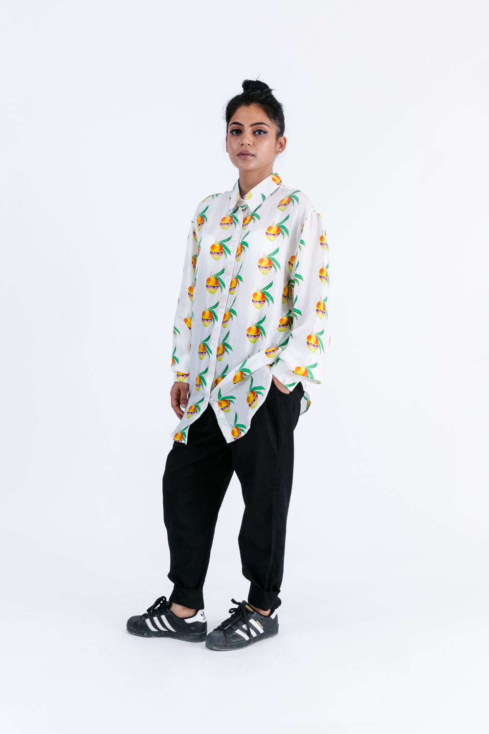 NBNW X RP Mangoverse  Mango Print 100% Silk Blouse - SOLD OUT