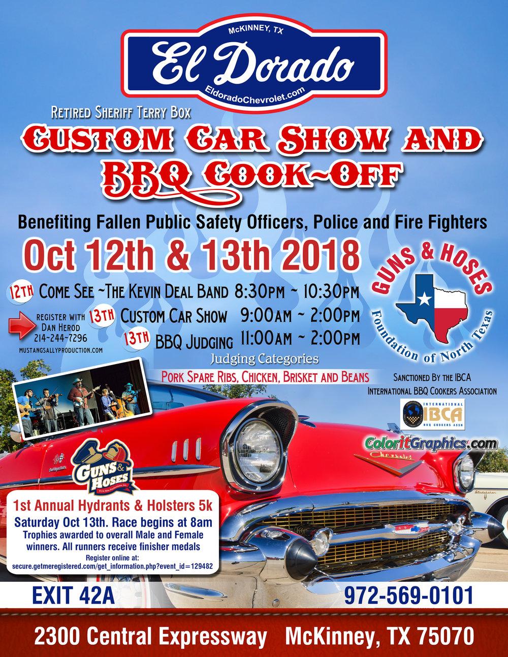 Custom Car Show CookOff GUNS HOSES FOUNDATION OF NORTH TEXAS - Car show categories