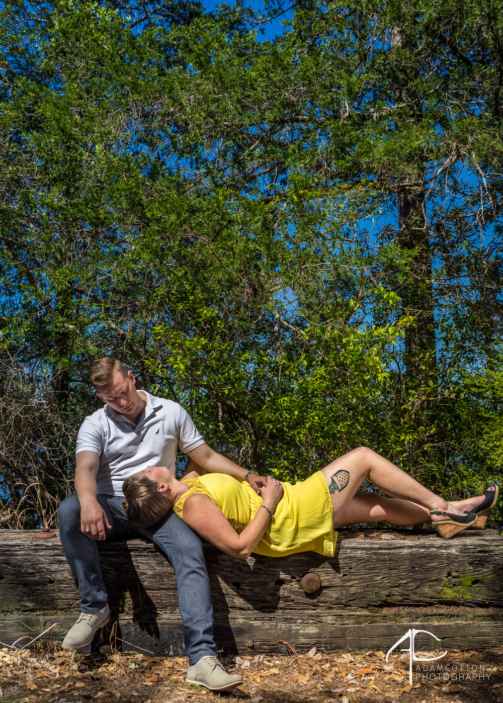 engagement portrait milton, fl