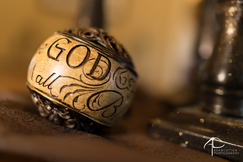 image decorative wedding detail ball lettering saying God