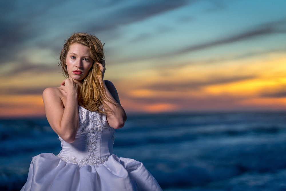 colorful-sunset-wedding-bridal