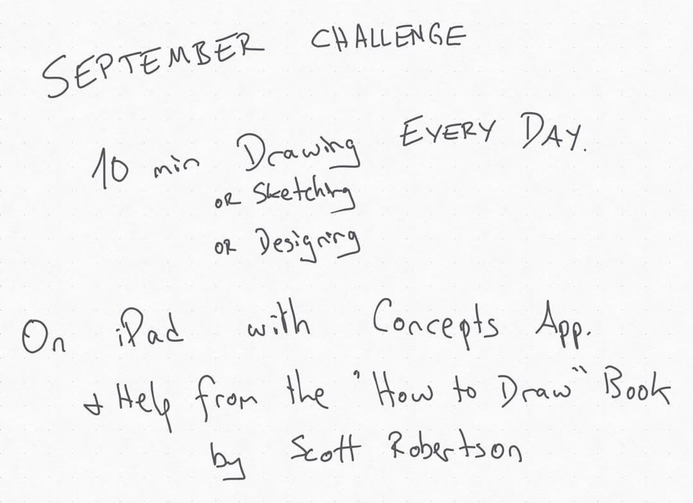 Day one of my new challenge. This is as far as I got in 10 min. First sketch tomorrow. #dailysept16