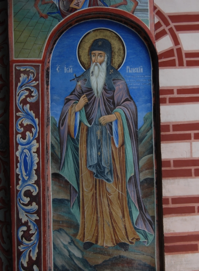 The image of St. John of Rila, also known as Ivan Rilski, is painted on Rila Monastery.