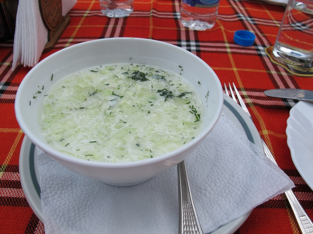 Taratar soup is a traditional summer soup.